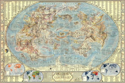 A Map of the Internet, the old world & the new world - Check it out!